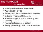 the new pgde at aberdeen