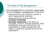 the role of top management1