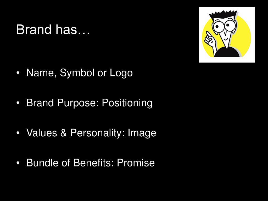 Brand has…