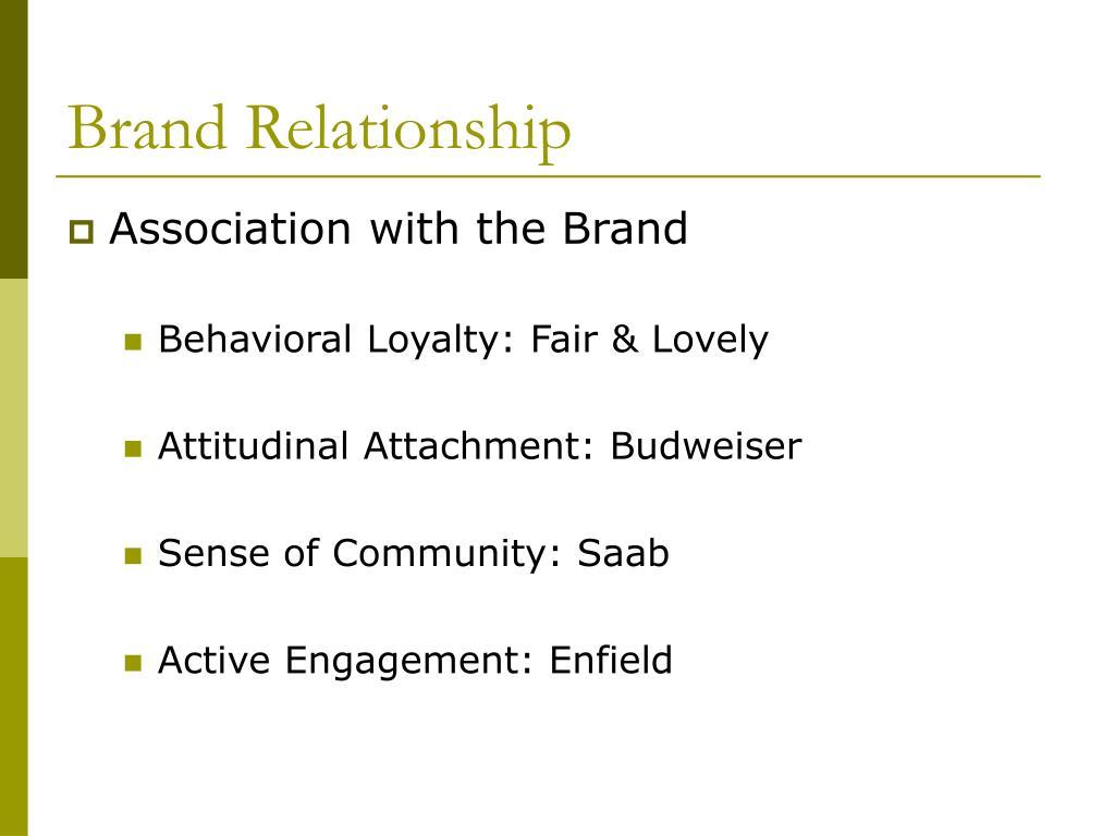 Brand Relationship