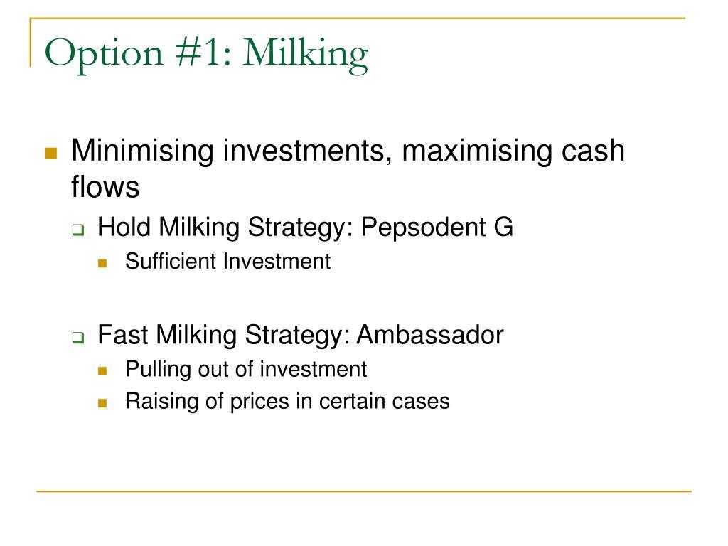 Option #1: Milking