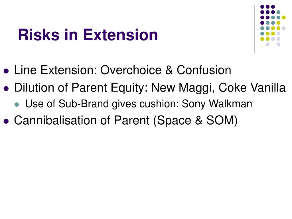 Risks in Extension