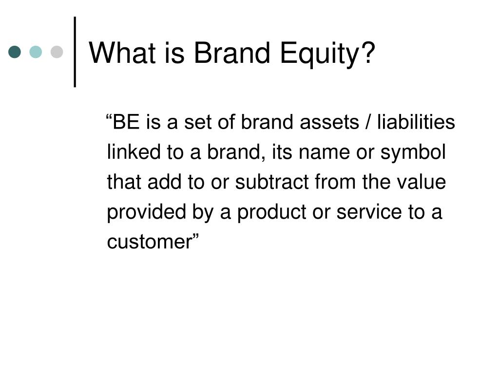 What is Brand Equity?