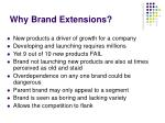 why brand extensions