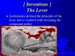 inventions the lever