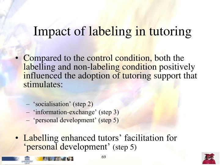 Impact of labeling in tutoring