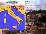 ancient italy c 6 th century b c