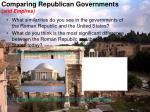 comparing republican governments and empires
