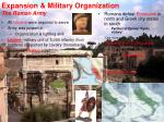 expansion military organization the roman army