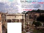 punic wars 264 146 b c three wars between rome and carthage