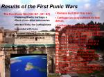 results of the first punic wars