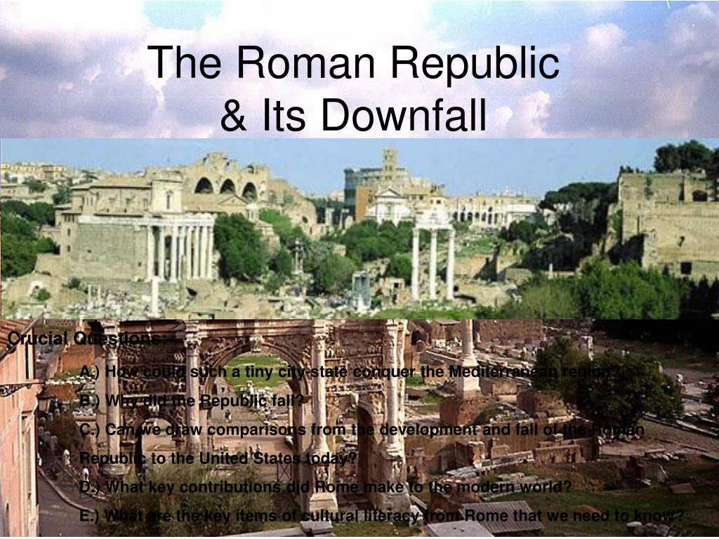 the roman republic its downfall l.