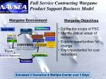 full service contracting wargame product support business model