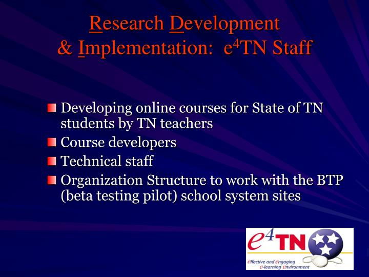 Developing online courses for State of TN students by TN teachers