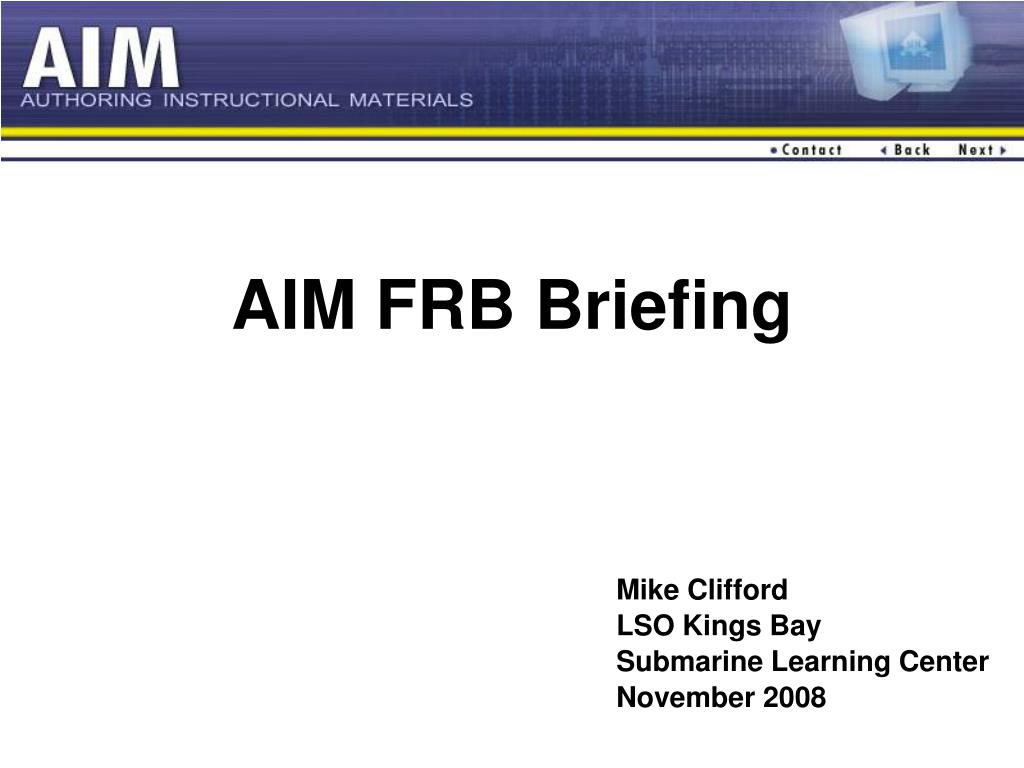 aim frb briefing l.