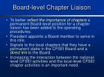 board level chapter liaison