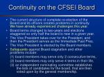 continuity on the cfsei board