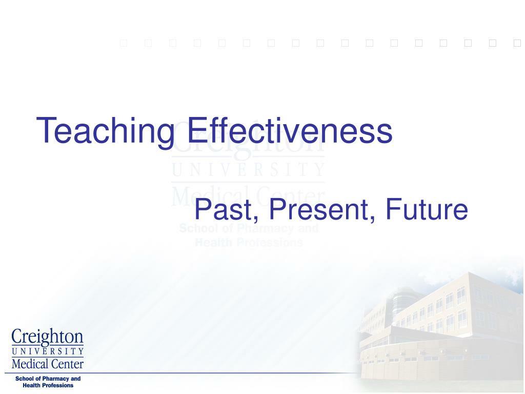 Teaching Effectiveness