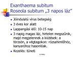 exanthaema subitum roseola subitum 3 napos l z