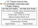 10 tra os comuns das entidades institu das pelo poder p blico