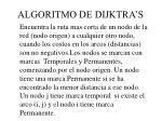 algoritmo de dijktra s
