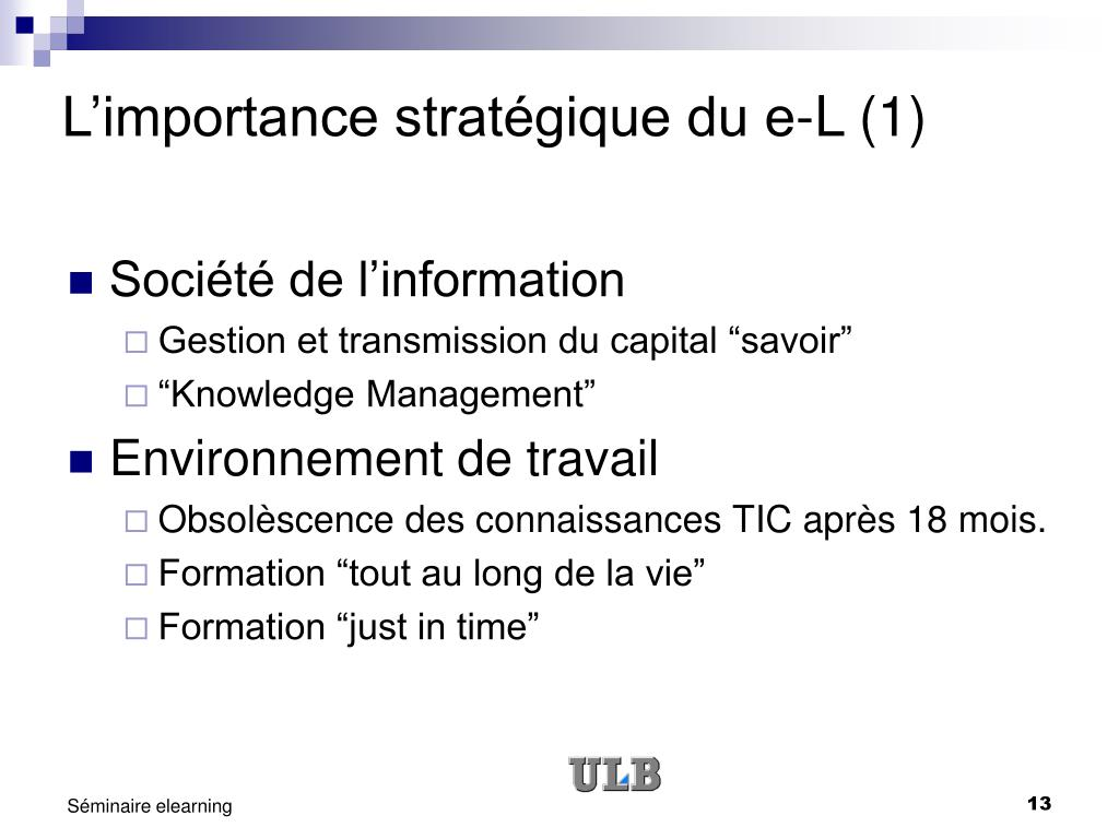 L'importance stratégique du e-L (1)