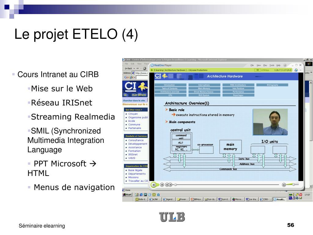 Le projet ETELO (4)
