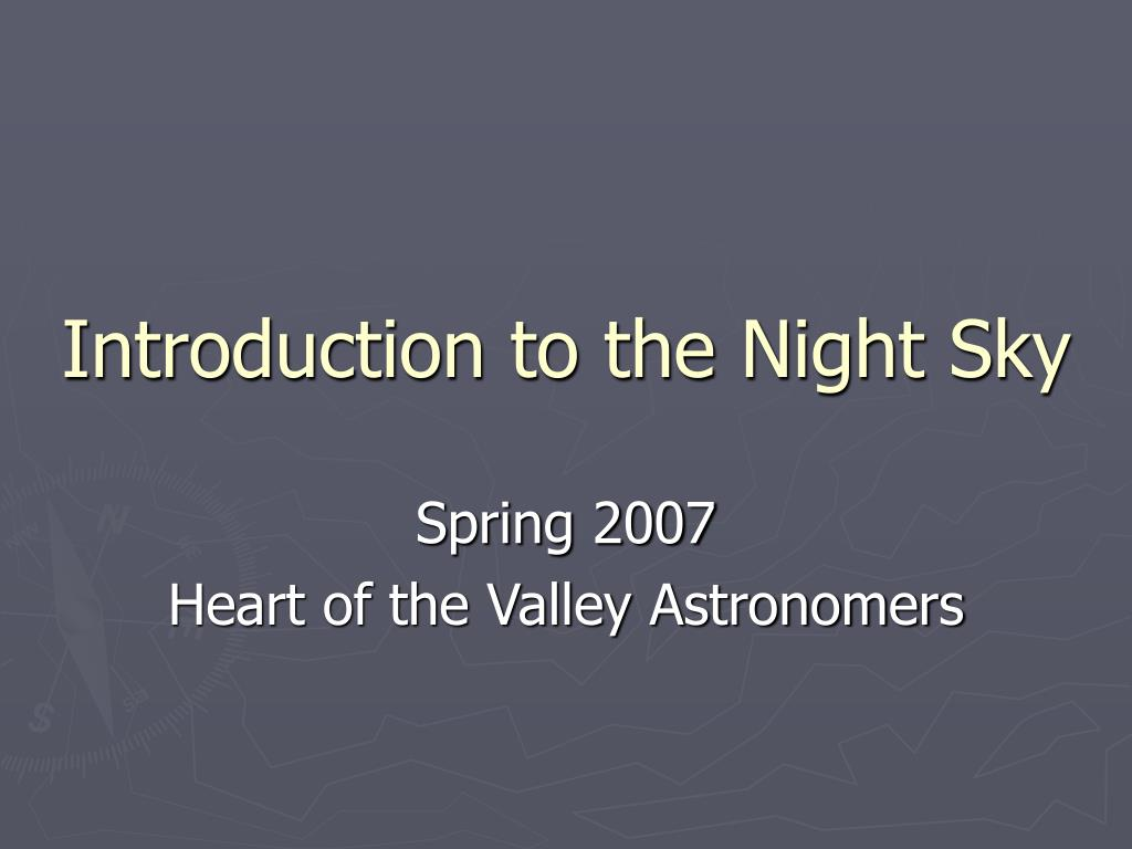 introduction to the night sky l.