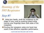 donning of the n95 respirator step 5