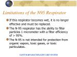limitations of the n95 respirator
