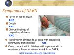 symptoms of sars