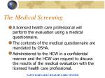 the medical screening