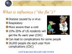 what is influenza the flu