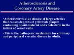 atherosclerosis and coronary artery disease