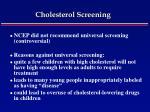 cholesterol screening47