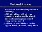 cholesterol screening48