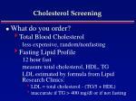 cholesterol screening52