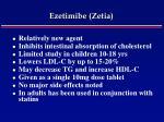 ezetimibe zetia