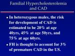 familial hypercholesterolemia and cad