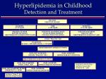 hyperlipidemia in childhood detection and treatment