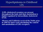 hyperlipidemia in childhood ldl8
