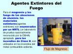agentes extintores del fuego131