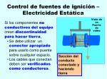 control de fuentes de ignici n electricidad est tica95