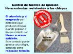 control de fuentes de ignici n herrramientas resistentes a las chispas92