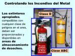 controlando los incendios del metal158