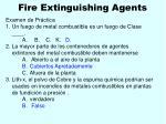 fire extinguishing agents