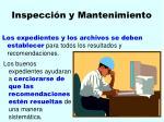 inspecci n y mantenimiento118