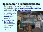 inspecci n y mantenimiento121