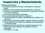 inspecci n y mantenimiento122