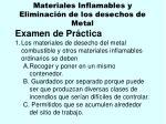 materiales inflamables y eliminaci n de los desechos de metal110